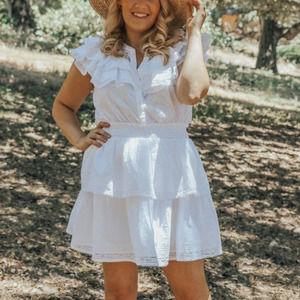 LoveShackFancy x Target Penelope Ruffle Mini Dress